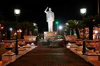 Vietnam, Mekong Delta, Can Tho, Ho Chi Minh statue
