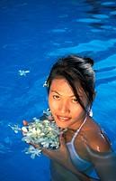 Asia, Thailand, Koh Samui. Woman in Spa