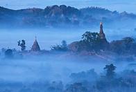Burma: hills in the fog