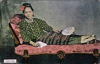 Burmese girl on a postcard