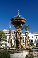 Guatemala, Antigua Fountain in Plaza mayor
