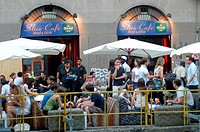 Italy, Lombardy, Milan cafe along the Naviglio