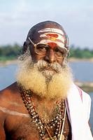 A priest at Devipattinam near Ramanathapuram, Tamil Nadu.