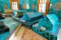 green tomb, Yesil Türbe, Bursa, Turkey