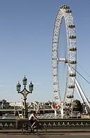 London Eye viewed from Westminster Bridge