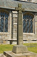 England, Cumbria, Cartmel. First World War memorial in the grounds of Cartmel Priory.