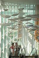 Japan, Honshu, Tokyo, interior of Miraikan Museum of science,
