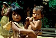 AMAZON RIVER, YAGUA INDIAN CHILDREN