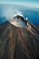 Vanuatu, active volcano