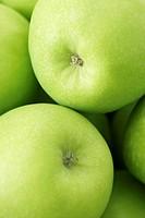Granny Smith apples close_up