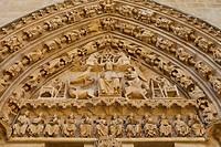 Sarmental Door, Burgos Cathedral, Burgos, Castilla Leon, Spain.