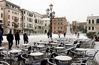 Italy, Veneto, Venice, Campo Santo Stefano in winter