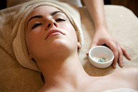Woman about to receive beauty treatment