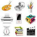 office supply icon set