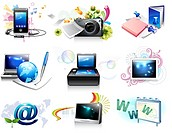 Electronics gadgets and web icon set