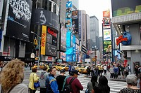 Broadway at 45th Street. Times Square. Theater District. Manhattan. New York, New York. USA.