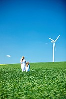 Wind turbine, mother and daughter