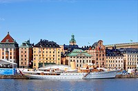 Boat, Boats, Cities, City, Cityscape, Cityscapes, Colour, Colour, Day, Daytime, Europe, Exterior, Gamla Stan, Horizontal, Island, Islands, Old Town, O...