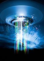 UFO human abduction, conceptual artwork