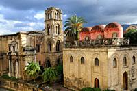 Italy, Sicily, Palermo, Churches of La Martorana and San Cataldo