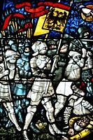Bern (Switzerland): stained glass window in the Münster (Cathedral)