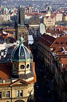 High angle view of Charles Bridge, Prague, Czech Republic