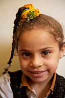 A child at the kindergarten at Gamaeya Khairiya_li_Ahaly, an NGO in Al Zahiria neighbourhood in Alexandria, Egypt May 30, 2007