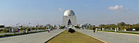 A panoramic view of the National Mausoleum, also known as Tomb of Quaid, in Karachi, Pakistan March 9, 2005