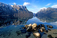 View of the Aurlandsfjord, Norway
