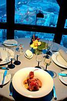 Paris, France, Haute-Cuisine French Cuisine Restaurant in Eiffel Tower, Jules Verne Detail, Lobster Plate