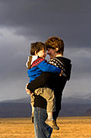 Mother and son, South Iceland