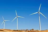 wind turbines near carratraca, malaga, andalusia, spain