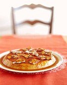 Flan with Almond Brittle