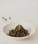 Wholewheat pasta and pesto