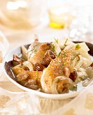 casserole dish cooked pheasant