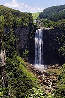 The Karkloof Falls situated in the Karkloof Nature Reserve, KwaZulu Natal, South Africa