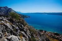 Omis city on the Mediterranean coast, Croatia, Europe