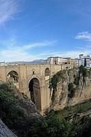 Puente Nuevo, new bridge, Ronda, Andalusia, Spain, Europe