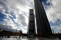 Repsol Tower and Eurostars Madrid Tower Hotel, CTBA, Cuatro Torres Business Area, Madrid, Spain.