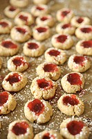 Homemade biscuits filled with jam