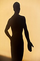 Acupuncture figure as a shadow