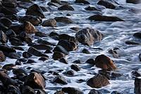 Pebble stones at coast, La Gomera, Canary Islands, Spain