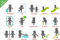 various life pictogram icons