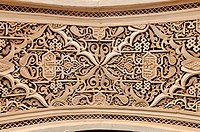 Stucco wall decoration in the El Bahia Palace, Medina, Marrakesh, Unesco World Heritage Site, Morocco, North Africa, Africa