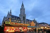 Wihnachtsmarkt in Muenchen, christmas market in Munich Germany