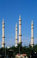 Syria, Aleppo, Al-Tauhid Mosque, minarets,