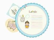 letter in illustration