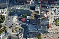Aerial view, Dortmund U-Tower, Dortmund, Ruhr area, North Rhine-Westphalia, Germany, Europe