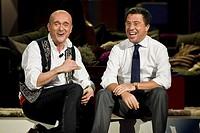 Kalispera telecast, Canale 5, Milan 2011 Alfonso Signorini and Italo Bocchino