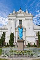 Kraslavas Sveta Ludviga Romas katolu baznica, Kraslava St Ludvig Roman Catholic Church, Baznicas iela Street, Kraslava, Latgale, Latvia, Northern Euro...